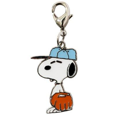 日本正版 Snoopy 史努比 拉鏈 掛飾 吊飾 (棒球)