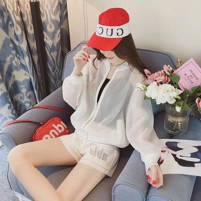 韓版運動休閒女裝兩件式套裝薄款防曬外套...