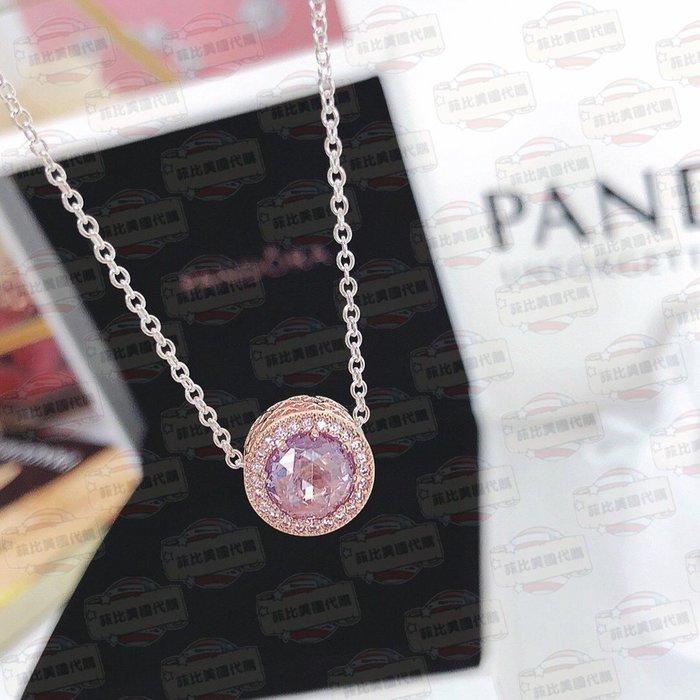 【菲比代購&歐美精品代購專家】2018年新品 Pandora 潘朵拉 最熱銷 鑲鑽 寶石項鍊 40-45CM