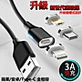 3A 磁吸充電線 快充線 1.5米 (Type C/安卓/蘋果) 急速快充QC3.0數據線 USBC 雙面傳輸線 磁吸頭