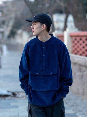 Ambeo日韓男裝 LKSTORE BENT IDEA 2021新款口袋工裝燈芯絨襯衫男情侶款立領襯衣