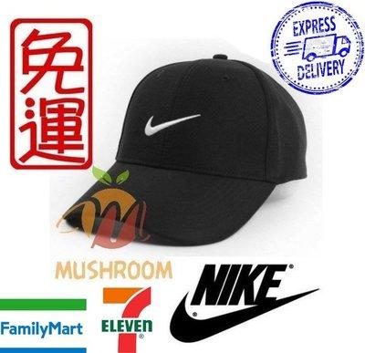 全新 現貨 黑色 NIKE GOLF 棒球帽 魔鬼氈 帽子 遮陽 運動帽 高爾夫球 基本 素面 鴨舌帽 透氣 運動