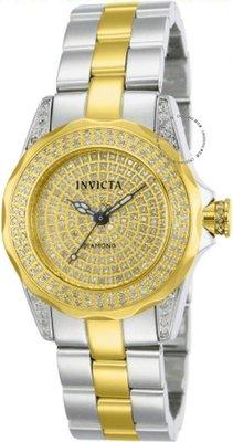 展示品 Invicta 14522b Pro Diver Diamond Pave Stainless Steel Resized Womens Wa