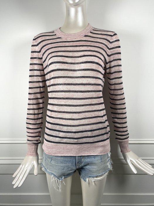 [我是寶琪]  Veronica Beard 粉紅條紋毛衣