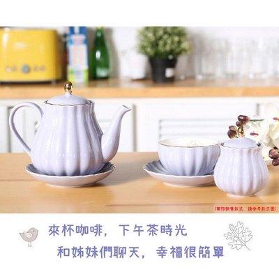 歐式陶瓷奶壺糖盅組 居家咖啡廳下午茶奶壺糖盅套裝(一組(奶壺*1+糖盅*1))_☆優購好SoGood☆