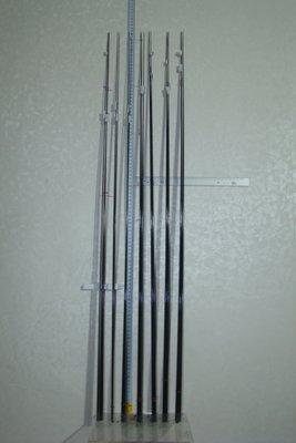 采潔日本二手 碳纖卡夢竿尾素材GAMAKATSU SHIMANO OLYMPIC OKuma 編號:實心特粗遠磯投竿用