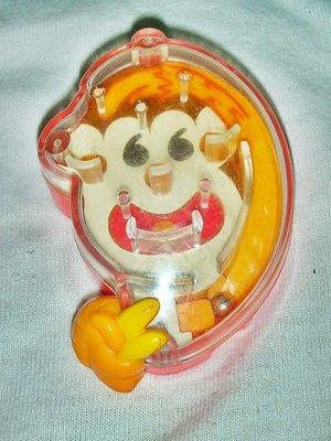 A集.(企業寶寶公仔娃娃)此款少見2011年麥當勞發行開心動物園-彈跳猴子玩具!