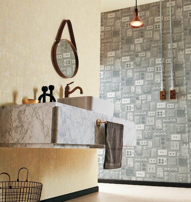 【Uluru】日本進口壁紙 Loft工業風 插頭造型 壁紙  日本製