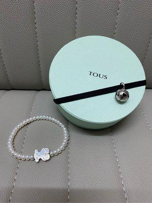 Tous White Pearl 925 Sterling Silver Bracelet Bear Logo Real 熊 珍珠 純銀 西班牙 手鈪 真