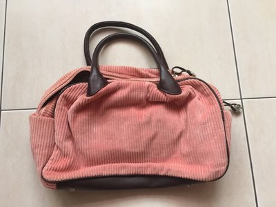 Folli Follie 粉紅色絨布手提包