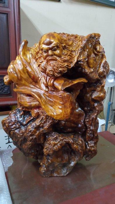 *阿柱的店*飛天達摩 三義黃榮洲作品 檜木瘤花 託售 價可議