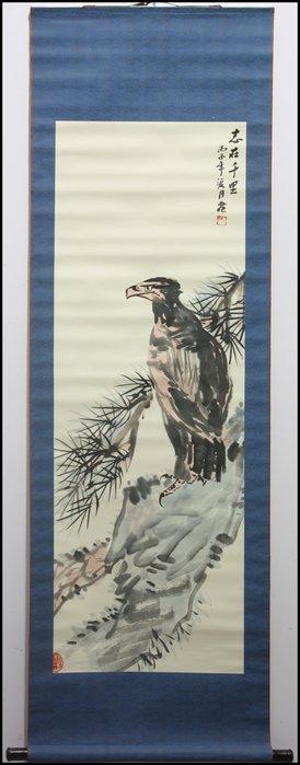 曬圖坊-純手繪-水墨畫-山水畫-花鳥畫-書法-掛軸-批發-歡迎收購-松鷹-755