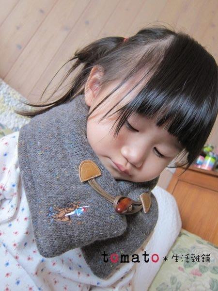 ˙TOMATO生活雜鋪˙韓國進口正韓蓬蓬彩色點點牛角釦頸圍/圍巾