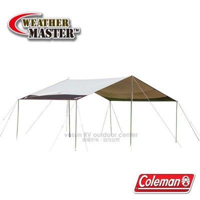 RV城市【美國 Coleman】氣候達人 SQUARE天幕帳篷-L(550×450×高280cm)_CM-31576