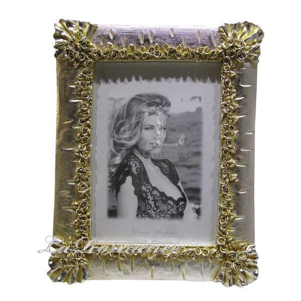【芮洛蔓 La Romance】溫馨玫瑰金銀箔方形7 x9 相框(大)  / 送禮 / 生日 / 畢業禮物