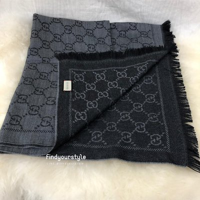 Findyourstyle 正品代購 GUCCI 灰色圍巾