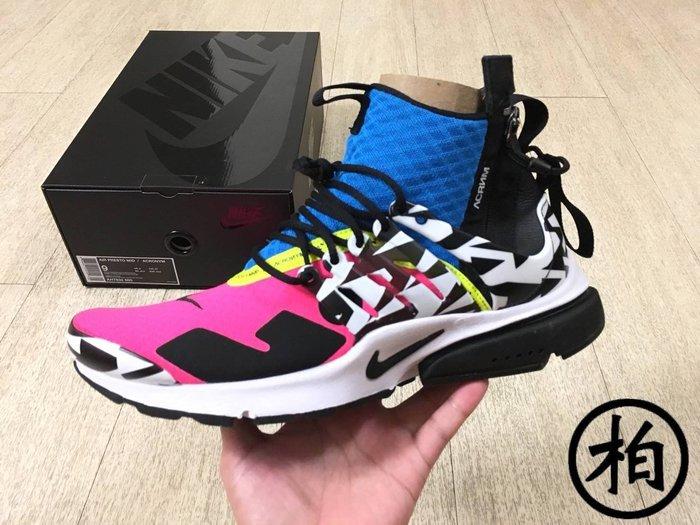 【柏】台灣公司貨 NIKE AIR PRESTO MID x ACRONYM 桃黑藍 AH7832-600 男鞋 US9