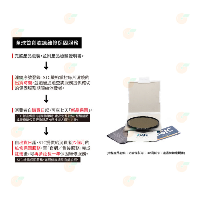送蔡司拭鏡紙10包 台灣製 STC IR-CUT ND64 55mm 紅外線阻隔零色偏 減光鏡 減6格 18個月保固