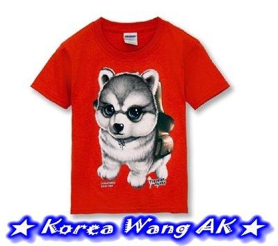 Korea Wang AK ~ 台灣原創設計限定版哈士奇兒童青少年版美國100%純棉T恤459元六款(預購)【PI05】