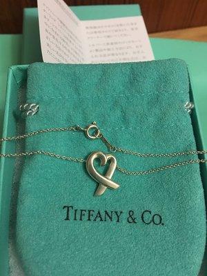 保證真品 二手 蒂芬妮 Tiffany 縷空 愛心 純銀 項鍊 經典款 LOVING  HEART 鍊墜 約8.5成新