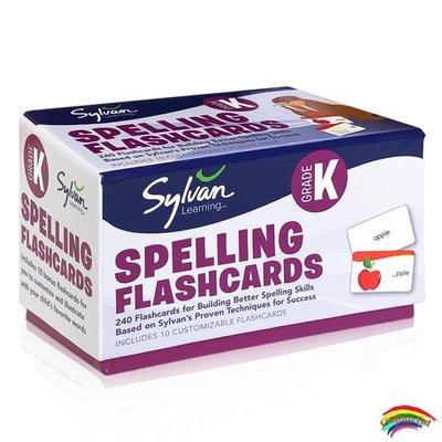 英文原版 美國學前單詞卡片 240張 Kindergarten Spelling Flashcards  基礎詞匯認知 啟蒙親子互動 早教育兒閃卡Sylvan