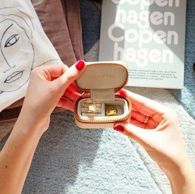 [SECOND LOOK]英國雜貨 Stackers London 粉色 拉鍊 旅行用 迷你 珠寶首飾盒