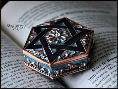 吖吖雜貨店*六芒星復古歐式公主首飾盒信物盒珠寶戒指飾品收納盒禮物