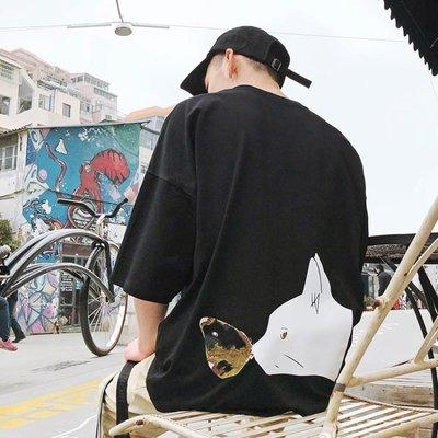 休閒2018新款bf學生短袖男士t恤夏...