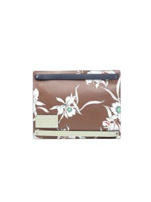 VALENTINO - 棕色花紋手提包