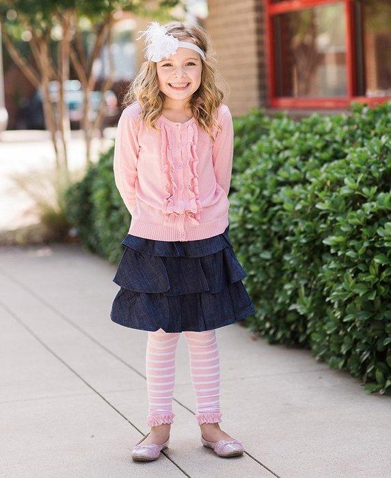 ❤Shopaholic❤美國RuffleButts 冬季暖暖女童褲襪 粉紅條紋 現貨