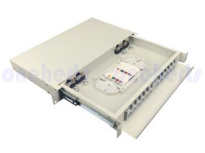 現貨 加厚19英吋抽屜式光纖終端盒通盒 12口 12路 支援 SC LC ST FC耦合器 機櫃式 光工作站 光電轉換