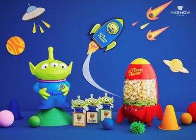 現貨 威秀 三眼怪火箭爆米花桶+三眼怪造型杯 整組一次擁有 華納威秀 玩具總動員4