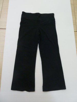 購於美國,  二手 Champion 女童黑色運動瑜珈長褲,  寬版褲腰,  舒適好穿,  美國女童尺寸 L. 台北市
