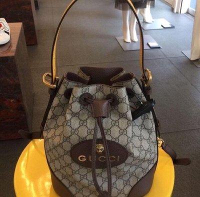 特賣預購 Gucci GG Supreme 虎頭 水桶包 後背包 斜背包 手提包 473875