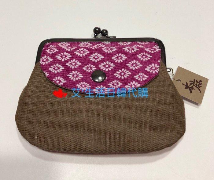 代購現貨  日本製和風小花棉布口金零錢包