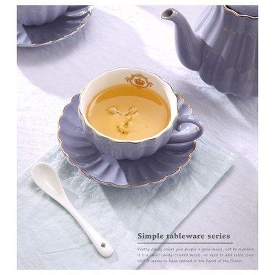 歐式陶瓷咖啡杯 居家咖啡廳英式下午茶杯組(一入組(含:茶杯*1+茶盤*1+湯匙*1))_☆優購好SoGood☆