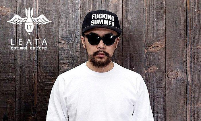 GOODFORIT / 韓國LEATA FUCKING SUMMER Snapback人氣標語六片式帽款/GD著用
