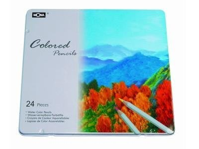【鑫鑫文具】萬事捷 MONA 24色鐵盒裝油性彩色鉛筆~~156元