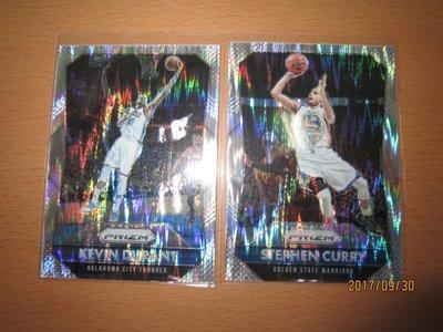 網拍讀賣~Stephen Curry/ Kevin Durant~勇士隊球星~咖哩~KD~波紋閃平行亮卡~普特卡~共2張