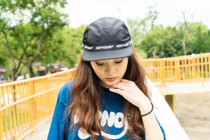 【A-KAY0】RIPNDIP 男女 TAPED NYLON CAMPER 五片帽 黑【RND3302BLAC】