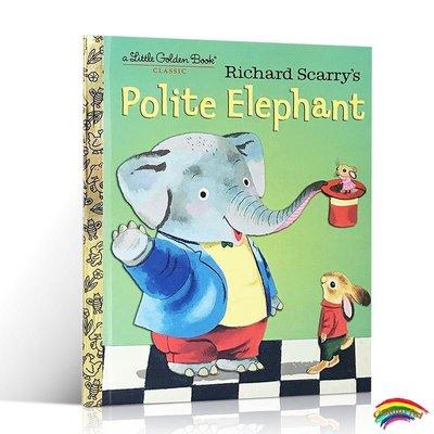英文原版童書 Richard scarry  Polite Elephant 有禮貌的大象社交禮儀生活好習慣 理查德·斯凱瑞啟蒙兒童繪本英語啟蒙圖畫書