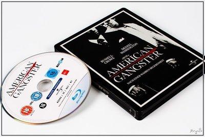 【BD藍光】美國黑幫 加長版:環球百年紀念鐵盒版American Gangster(台灣繁中字幕)-神鬼戰士 羅素克洛