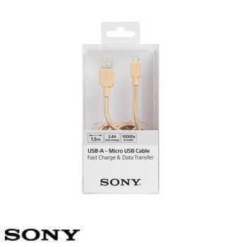 【EMo】SONY Micro USB 編織充電傳輸線(CP-ABP150)金色