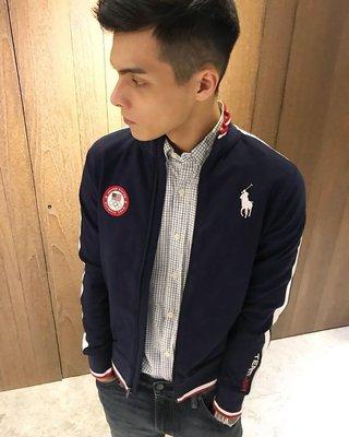 美國百分百【全新真品】Ralph Lauren RL 立領 外套 夾克 POLO 奧運限定款 深藍 XS S號 H261