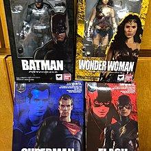 全新盒殘魂限 SHF JUSTICE LEAGUE 超人 SUPERMAN 閃電俠 THE FLASH 蝙蝠俠 BATMAN 神奇女俠 WONDER WOMAN