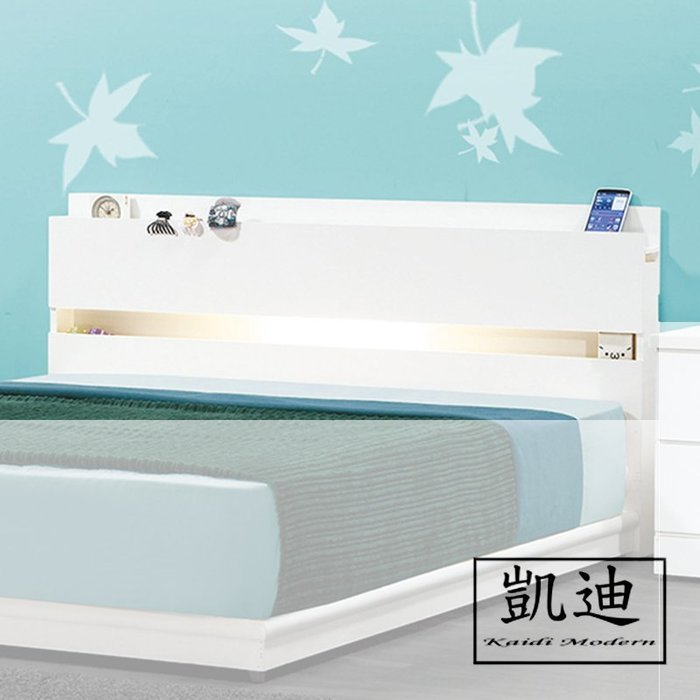 【凱迪家具】F32-72507 民宿風5尺白色床頭 /大雙北市區滿五千元免運費
