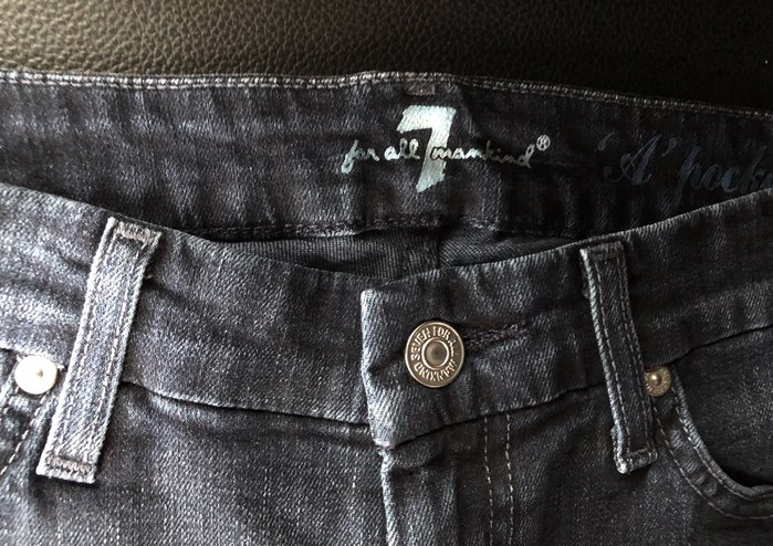 7 for all mankind 水鑽雙A深藍色牛仔褲