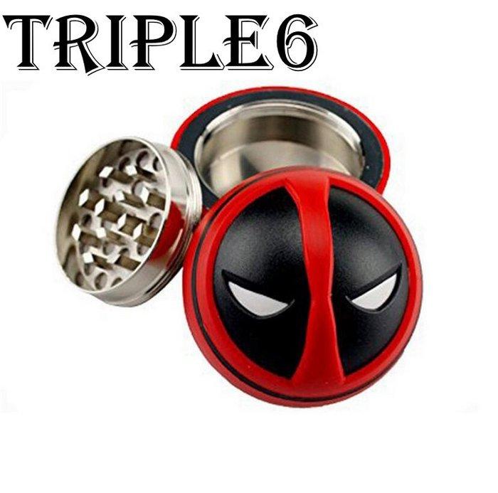 【Triple6】🚚免運 歐美 金屬3層 50MM 漫威死侍 研磨器 Grinder