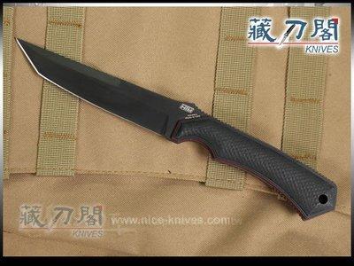 《藏刀閣》HTM-追風者G10柄黑刃直刀
