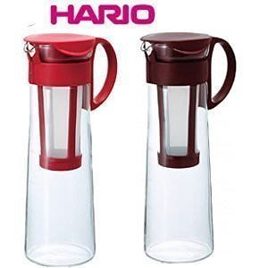 ~霏霓莫屬~HARIO 流線咖啡沖泡壺~8杯用 冷泡咖啡壺1000ml 紅色  咖啡色